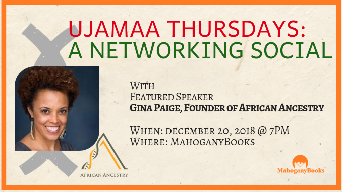Ujamaa Thursday's: Featuring Gina Paige of African Ancestry